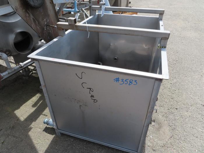 300 Gallon Rectangular Stainless Steel Tank