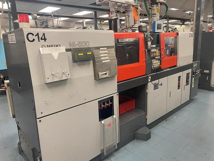 Used 1999 Meiki M-50C-AS-DM Injection Moulding Machine