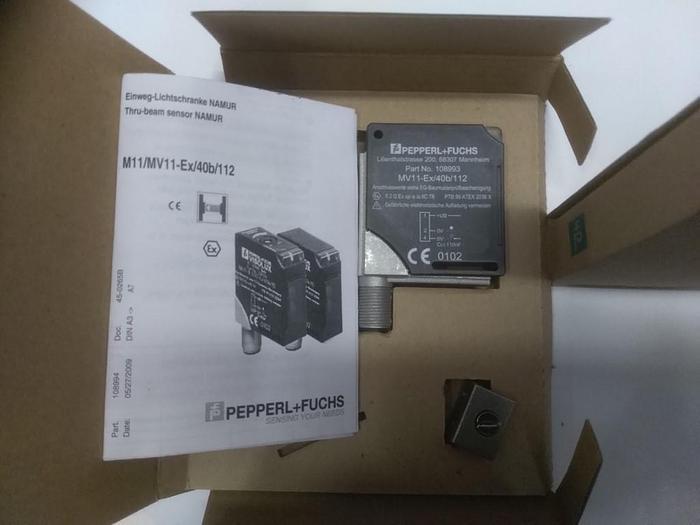 Einweg Lichtschranke M11/MV11-Ex/40b/112, Pepperl und Fuchs,  neu