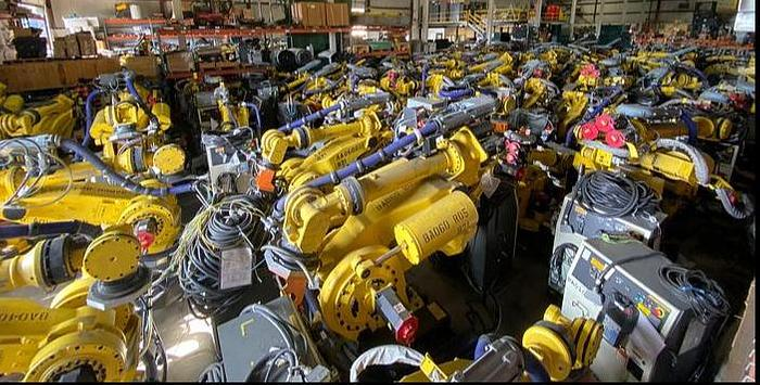 Used FANUC M900iA/260L ROBOTS WITH R30iA CONTROLLERS (50) LOW HOUR UNITS IN THIS GROUP