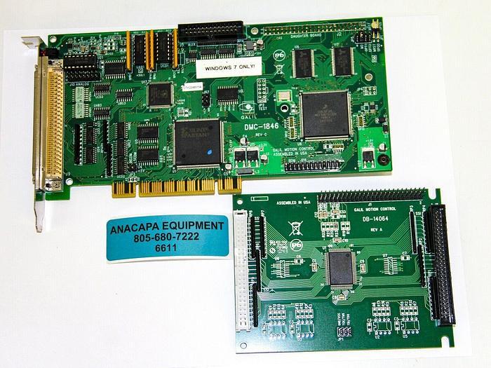 Used Galil Motion Control DMC-1846 Rev C Motion Controller W/ DB-14064 REV A (6611) W