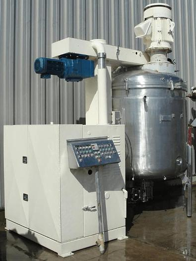 Used 600 GALLON (2400 LITER) FRYMA VACUUM PROCESSING MIXER – S/S – JACKETED