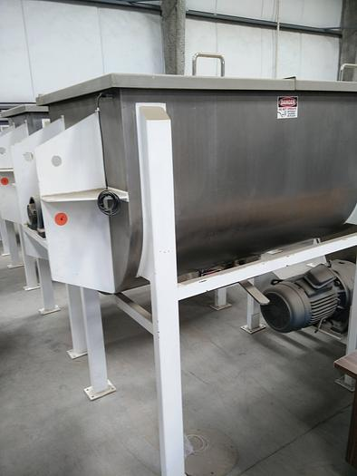 NEW 35 CU. FT. DOUBLE RIBBON BLENDER – SANITARY S/S CONTACT PARTS