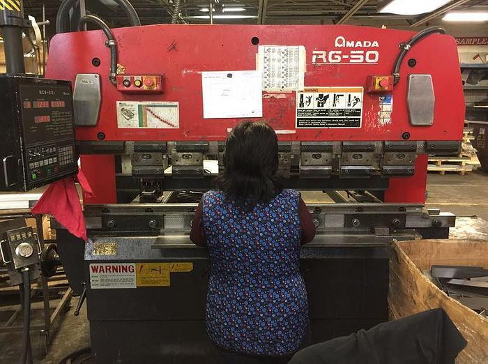 1998 55 Ton Amada RG-50 CNC Press Brake