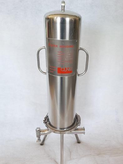 Generalüberholt Durchlauffilter, Filtergehäuse, 3 ZW 2 Cuno, Edelstahl, gebraucht-Top