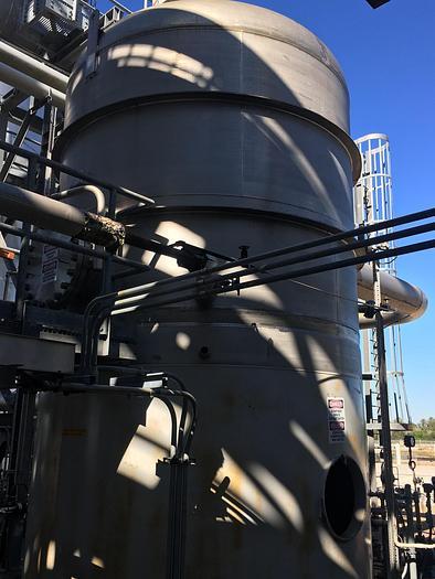 Used 6,800 GALLON VERTICAL PRESSURE TANK – T-316L S/S – 50 PSI/FV (#9716)