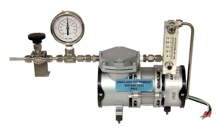 Used GAST MOA-V112-AE Diaphragm Pump w/ Gauge USED (8943)R