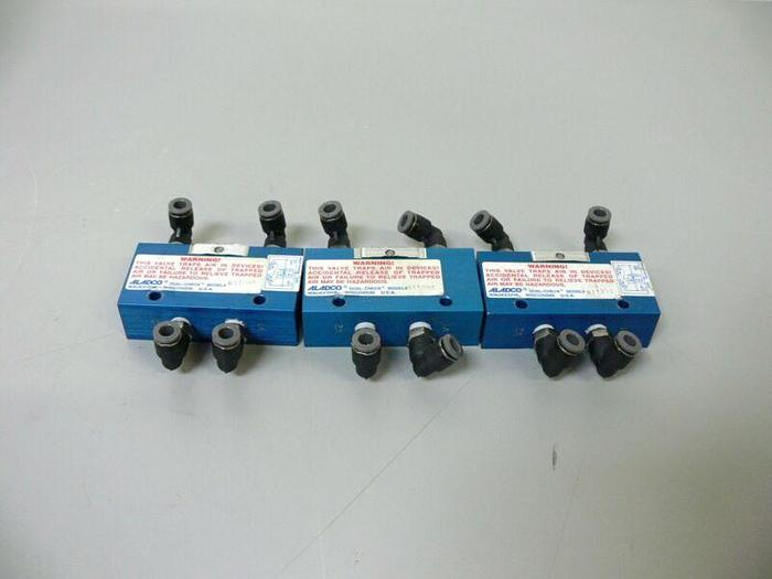 Used Lot of 3 Aladco Model 611201 Dual Check Valve