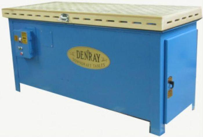 Used Denray 2872B Downdraft Table, Push Button Cleaning