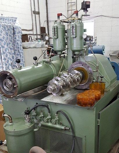 Used 20 LITER NETZSCH HORIZONTAL MEDIA MILL – LME-20-T – WITH 2 CHAMBERS – 25 HP/XP (#8867)