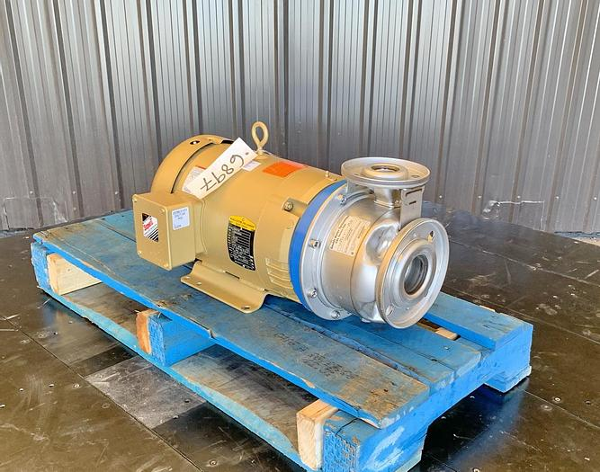 Used USED GOULDS CENTRIFUGAL PUMP, SSH SERIES, 2.5'' X 1.5'' INLET & OUTLET, 316 STAINLESS STEEL, UNUSED