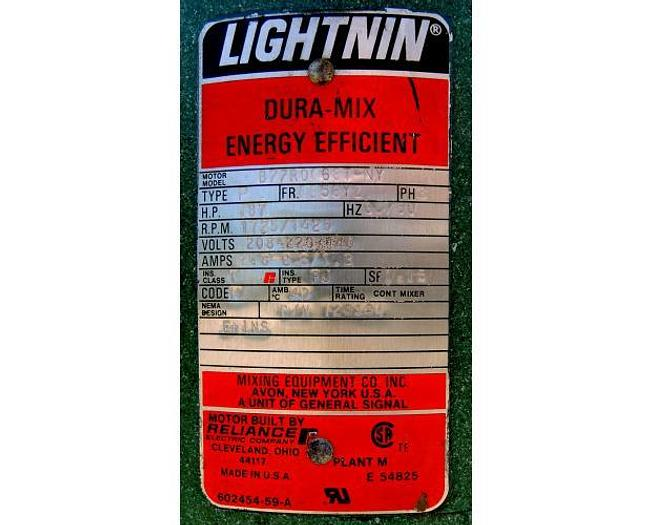 USED LIGHTNIN TOP ENTRY MIXER, MODEL XJQ 87, 0.75 HP