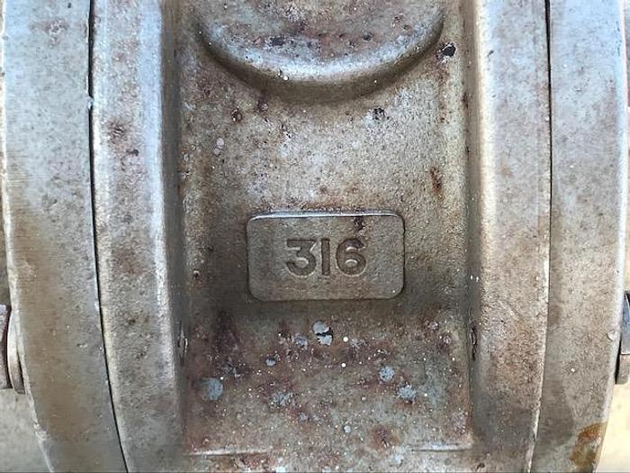"""USED GEAR PUMP, 1.75"""" X 1.75"""" INLET & OUTLET, 316 STAINLESS STEEL"""
