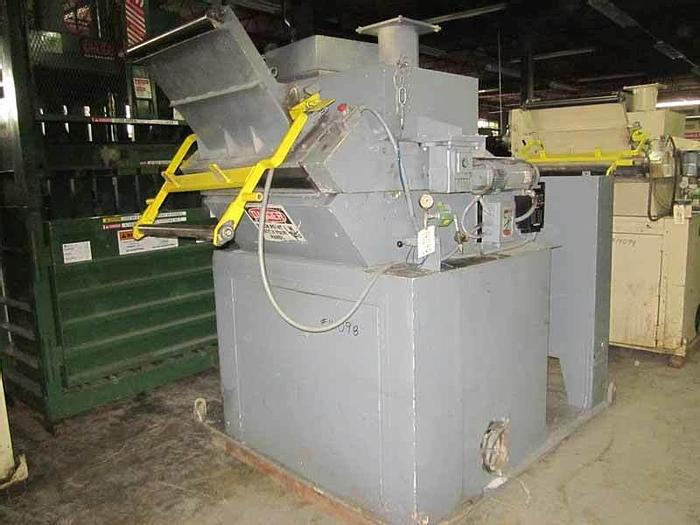 Used 75HP NELMOR GRANULATOR MDL G1436MB WITH FEED ROLLS