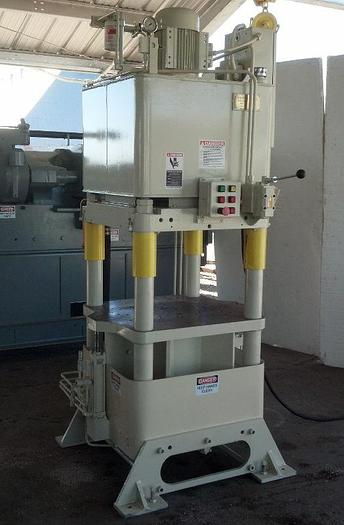 Used 120 Ton Fisher / Precision Model AJF-7 4-Post Hyd. Press; Up Acting Type; Mfg. 2006; S/N 21399-40;
