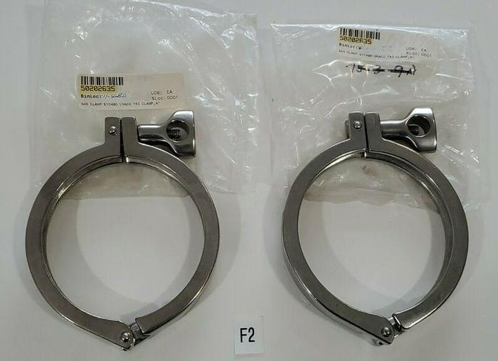 """LOT OF 2 4""""Heavy Duty Sanitary Tri Clamp Clover Singe Pin Hinge Stainless Steel"""