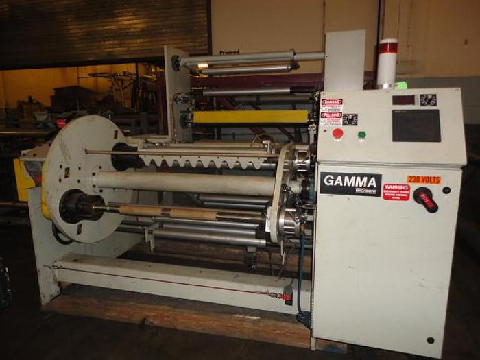 """Used 36"""" Gamma swing out shaft winder with auto perf breaker"""