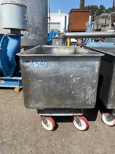 Used Stainless Steel 212 Gallon Meat Cart / Portable Tank