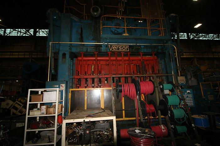 "Used VERSON  TRANSMAT SSDC PRESS TS2-500-156-42T, 500 TON CAPACITY, 156"" X 42"" BED & RAM"