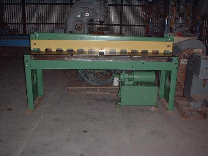 """16 ga x 72"""" Niagara Hydraulic Shear; Series One"""