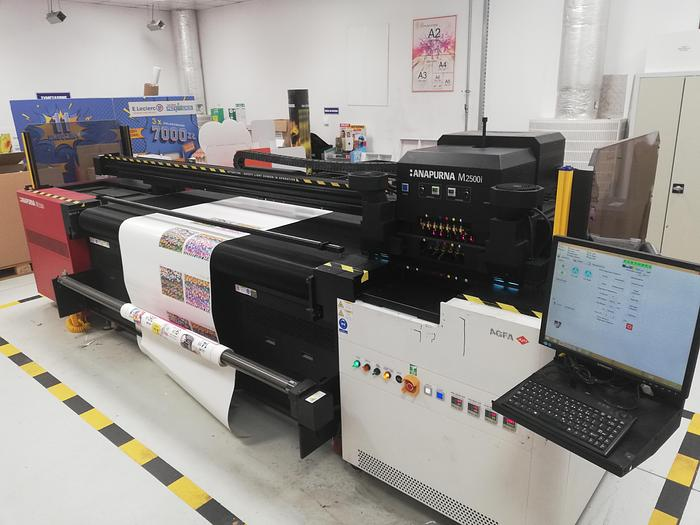 Used Agfa Anapurna M2500i hybrid UV-curable inkjet system