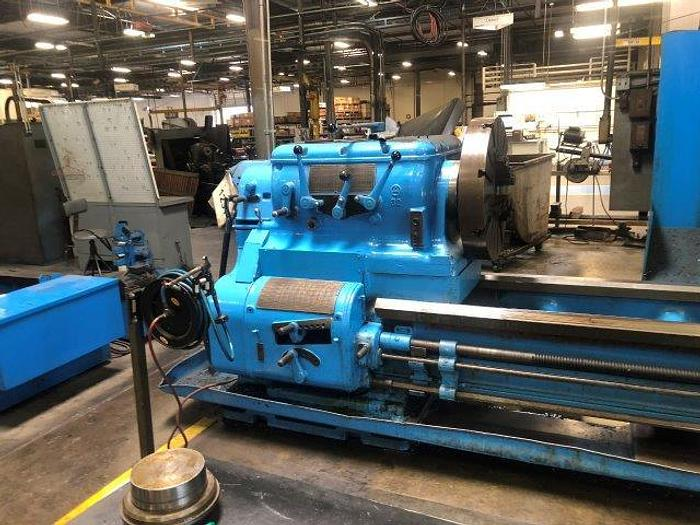 """Used 45"""" x 350"""" cc, AXELSON, 555 MAX. RPM, 27.5"""" CHUCK [5099]"""