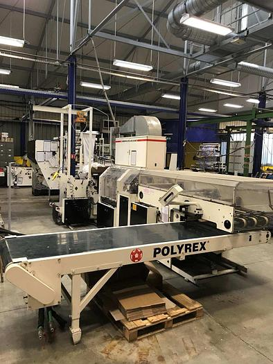 Used WINDMÖLLER & HÖLSCHER (W&H) POLYREX SF 3708 - Welding film bag machine (LOOP HANDLES - STT – Punch)