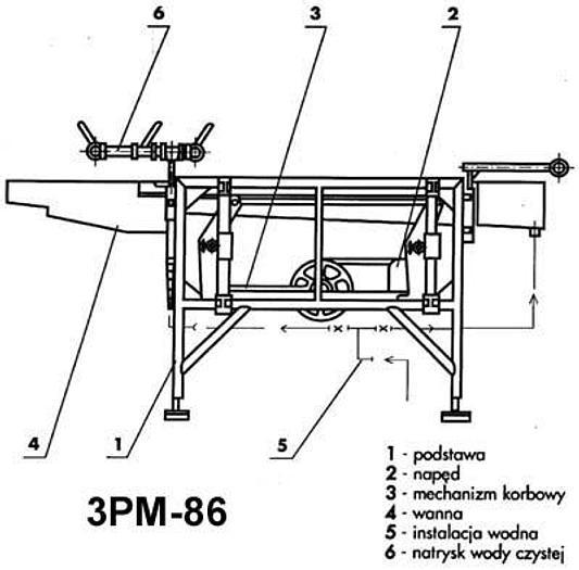 Używane Płuczka do owoców miękkich - 3PM-86