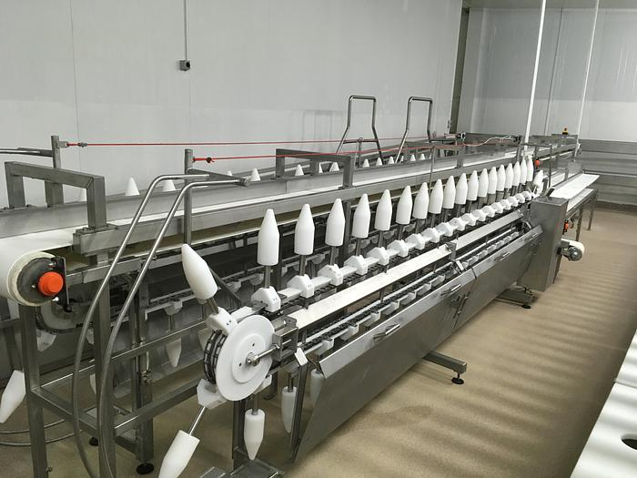 Used MISCELLANEOUS 6 meters chicken cone deboning line