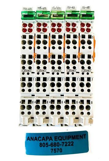 Used Wago 753-453 Input Module, 753-455 4-Channel Analog Input USED (7570) W