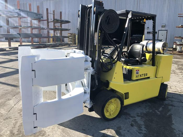 Used 12,000 POUND HYSTER ROLL CLAMP TRUCK MODEL S120XLS