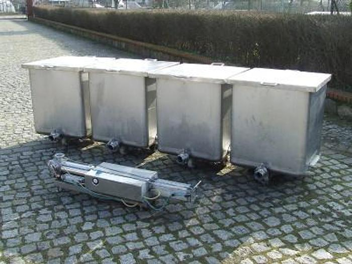 Używane Zestaw do transportu pompowego produktów połpłynnych i gęstych