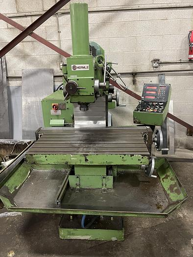"""Used 15""""X 31-1/2"""", HERMLE, VERTICAL MILLING MACHINE"""