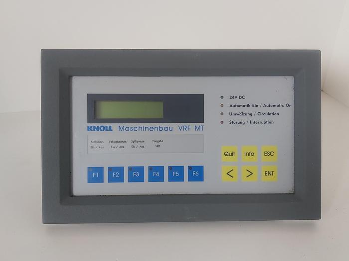 Gebraucht Bedienteil für Vakuumrotationsfilter, VRF MT, Knoll gebraucht