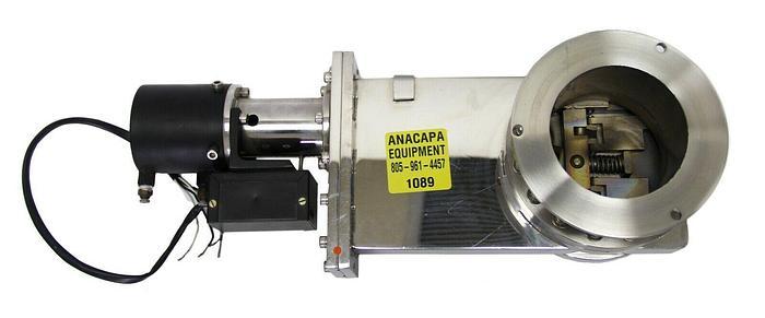 "Used MDC Pneumatic Stainless Steel High Vacuum Gate Valve, 6"" Diameter, DN100 (1089)"