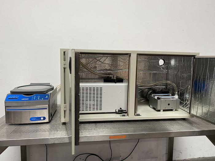Used Labconco 7810016 CentriVap Concentrator w/  CentriVap 7811020 Cold Trap -50C