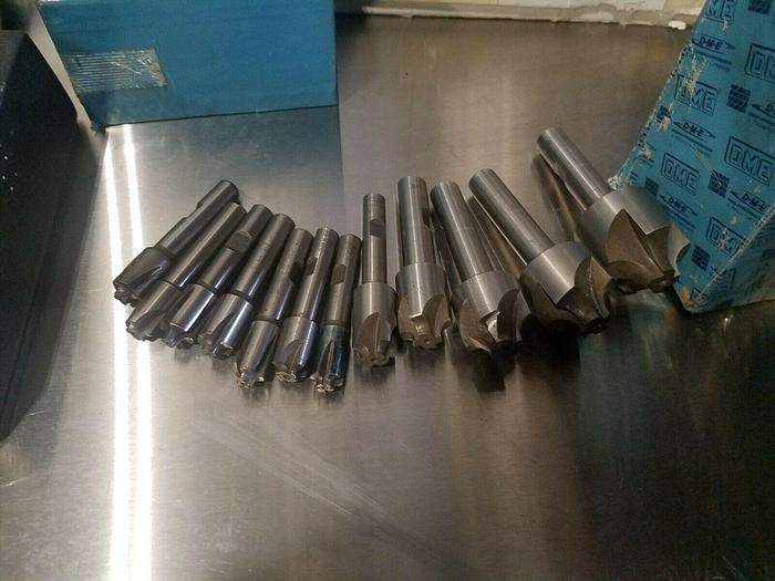 Used a Lot of 12 assorted Radius Cutters Milling Machining End Mills