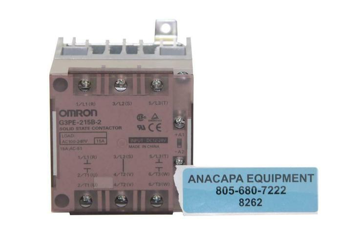 Used Omron G3PE-215B-2 Solid State Contactor, DC12-24V, AC100-240V (8262)W