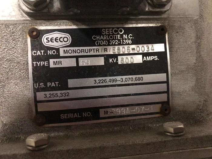 SEECO GL 69 kV 3 way switch