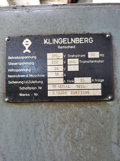 1974 Hob sharpening machine KLINGELNBERG AGW 301