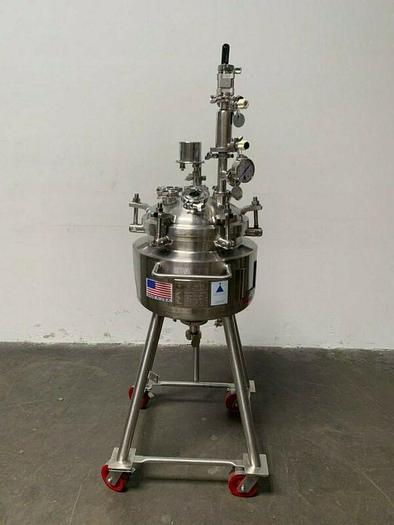 Used Precision 30 Liter Stainless Steel Jacketed Reactor 60 PSI w/ level monitor