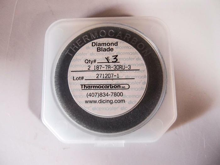 Thermocarbon Diamond Blade 2.187-7A-30RU-3 1 Lot of 3 (3629)