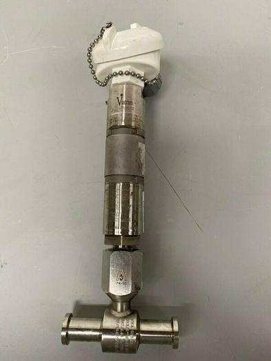 "Used Viatran 23BTBDA571AG Stainless Steel Pressure Transducer w/ 1"" Sanitary Fitting"