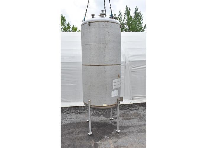 USED 3450 GALLON TANK (VESSEL), 316L STAINLESS STEEL
