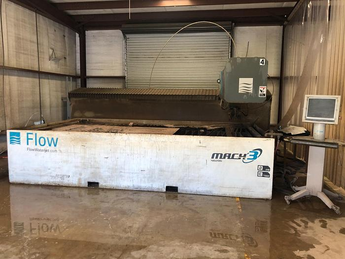 Used 2016 FLOW MACH 3 4020B WATER JET CUTTER