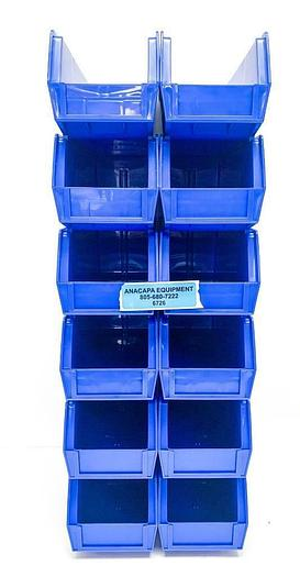 "Global Industrial 269688BL Storage Bin Set, 4-18x10-7/8x4"" Lot of 72 (6726)W"