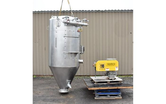 Used USED DUST COLLECTOR/SILO/RECEIVER, 20 CU. FT., STAINLESS STEEL, SANITARY, WITH ROTARY VALVE