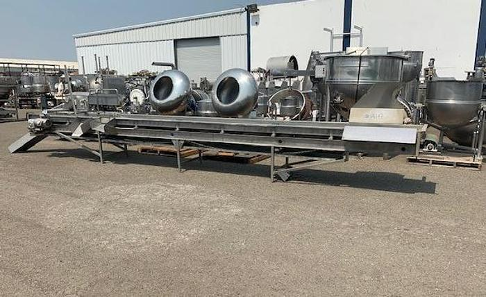 "Used 24"" Long x 24' Wide Stainless Steel Sorting Conveyor"
