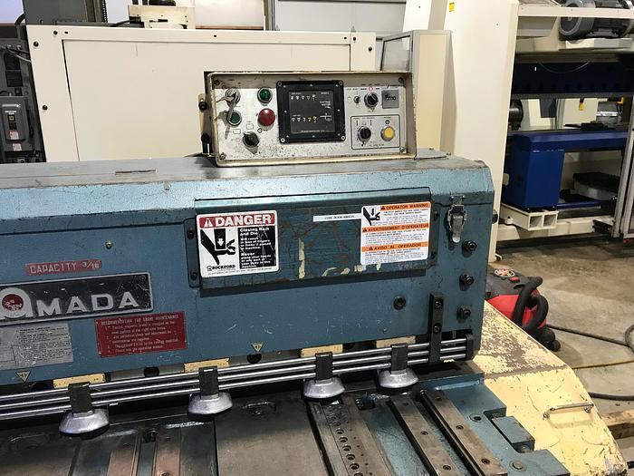 Used 1981 Amada M-1245 Mechanical Shear #1692