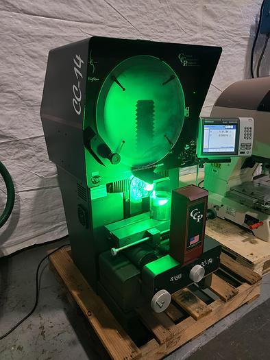 Used Optical Comparator Profile Projector with Quadra-Chek eCAD CC-14